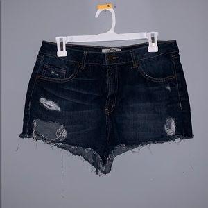 Refuge distressed jean shorts